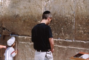 I answered the songwriters call to pray for the peace of Jerusalem at the Western wall.