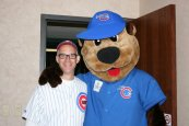 Cubbie Bear stopped by to wish me a Happy Birthday!