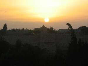 Photo I took from the window of my hotel overlooking the Old City of Jerusalem.