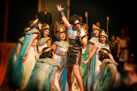 Playing Pharaoh in Joseph and the Amazing Technicolor Dreamcoat.
