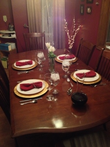 Table Set for Valentines