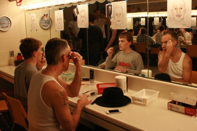 Me and Jake Anderson getting ready in make-up alley.