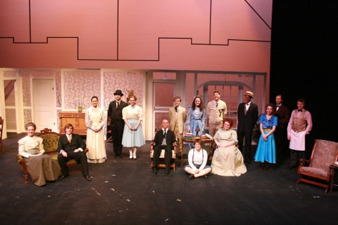 Cast photo taken after Dress Rehearsal.