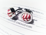 Cuff Links made from baseball used in Cubs Yankees game on June 18, 2011 (the evil ones won 4-3 that day).