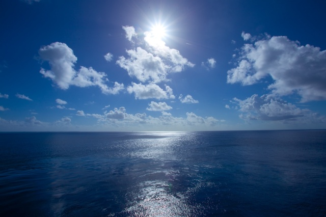 Big Blue Sky; Deep Blue Ocean