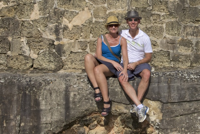 Sitting outside the walls of Old San Juan.