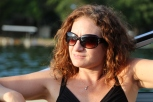 Wendy in boat