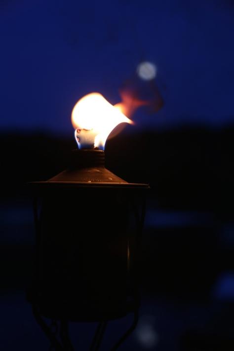 Full Moon in Tiki Torch