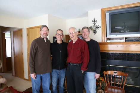 The VW men (L-R): Tim, Tom, Dean, Terry