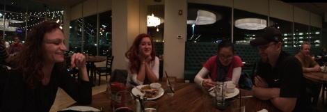 Dinner Panorama with Madison Becky and Court
