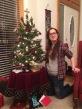 Suzanna plays Santa