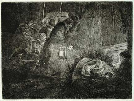 """Adoration of the Shepherds"" Rembrandt"