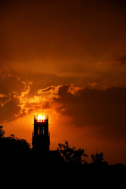 "Source: Amelie via Flickr who states: ""Sauron's eye: my church is turning evil!"" Great shot."