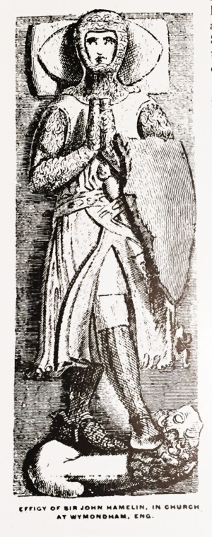 Sir John Hamelin effigy Wymondham, England