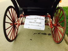 Our carriage for each of the six parades.
