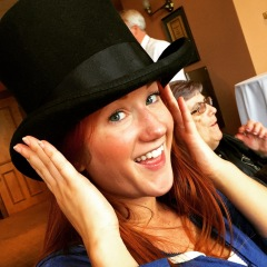 Madison Kate came home and gave my top hat a try!