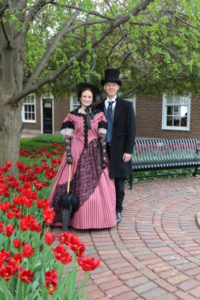Playing Dominie H.P. Scholte & Maria at the Pella historical Village