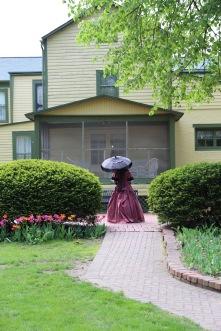 Maria in her garden.