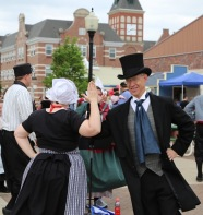 The Dominie Dutch dancing in the streets.
