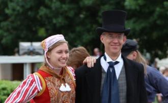 Dutch Dancing with cousin Kathryn. Van Tuyl.