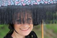 A view through Maria's parasol fringe.