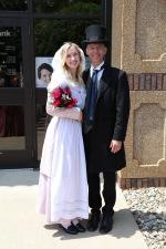 Pre-coronation with Tulip Court member, Megan Atkins.