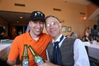 A post parade refresher with Chadwick at the Pella Opera House.
