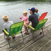Family fishing.