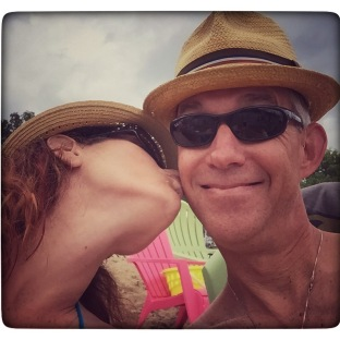 Smoochin' at Captain Ron's.