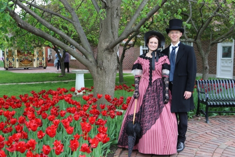 The Dominie and Maria in the Historical Village Garden
