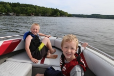 Out on the lake!