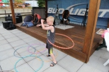 Hoola Hoopin' at Larry's.