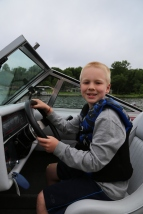 Driving Tom & Wendy's boat!