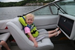Camille enjoying a morning cruise.