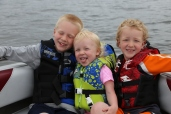 Fun in the bow of the boat!