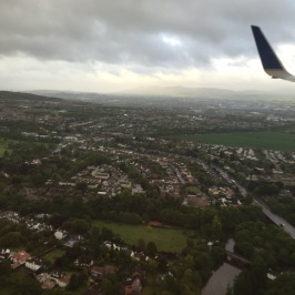 Flying into Edinburgh.