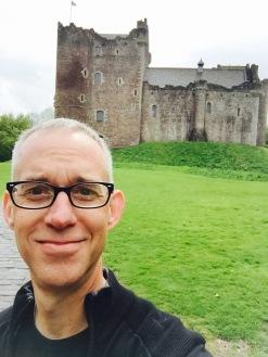 Selfie in front of Doune Castle.