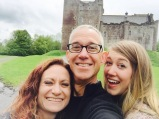 Our selfie in front of Doune Castle, Scotland