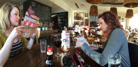 Taylor and Wendy at Nando's Restaurant, Edinburgh.