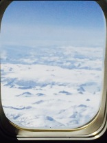 We saw Greenland on the flight home. It looked very cold!