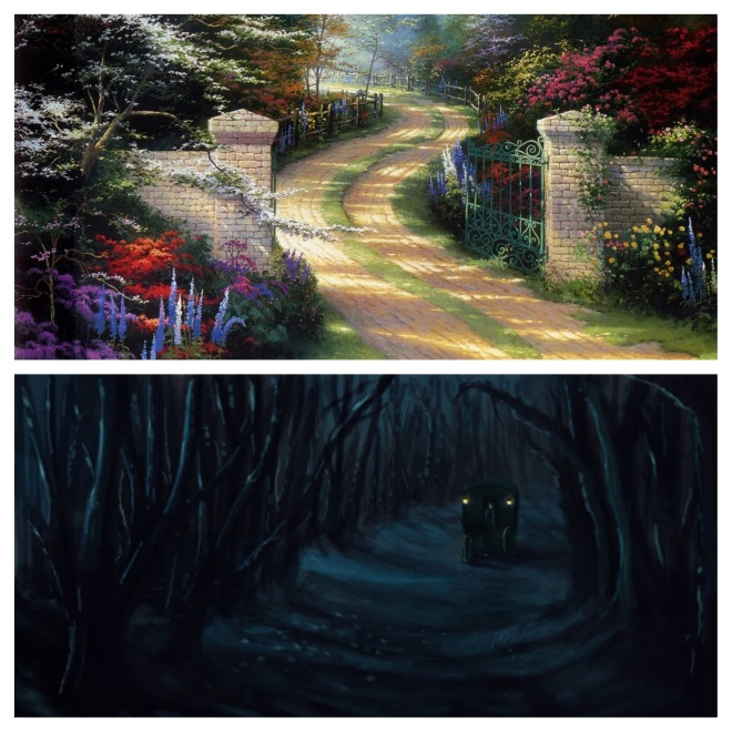 What we hope life's road looks like (top) and what we sometimes find to be the reality (bottom).