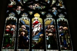 Stained glass of St. Giles.