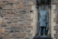 The statuary sentinel of Edinburgh Castle.