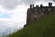 A view of Edinburgh Castle from castle hill.
