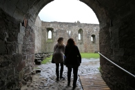 It was a rainy entrance into the courtyard of Doune Castle.