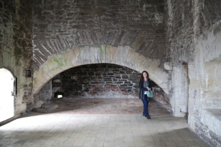 This was the kitchen fireplace, large enough to cook an entire hog on a spit.