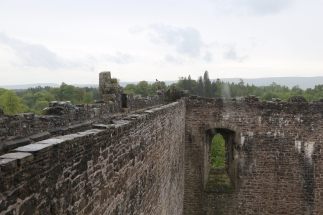 Doune Castle battlement.