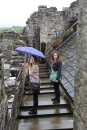 Taylor and Wendy on the battlements of Doune Castle.