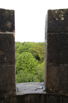 View out from the Doune Castle tower.