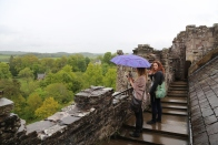 Taylor and Wendy on top of Doune Castle.